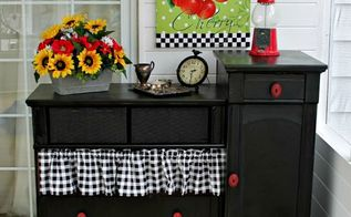 my redo on a curb pick up, painted furniture, repurposing upcycling