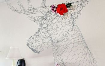 diy deer head made from chicken wire, crafts, wall decor