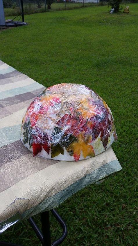 diy leaf bowl, crafts, seasonal holiday decor