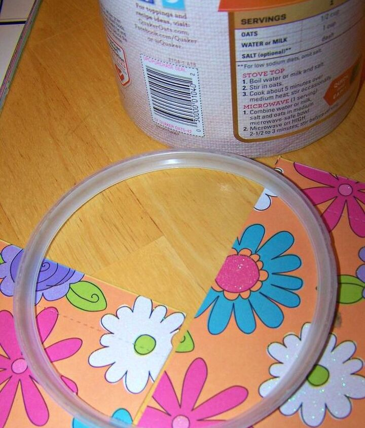 give that oatmeal box a personal touch, crafts, repurposing upcycling
