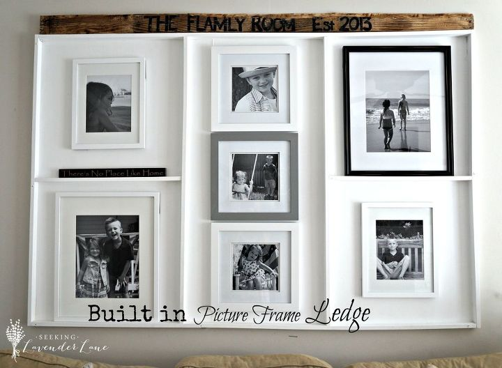 Oops...I Made a Built in Picture Frame Ledge | Hometalk