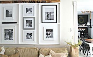 oops i made a built in picture frame ledge, diy, home decor, wall decor