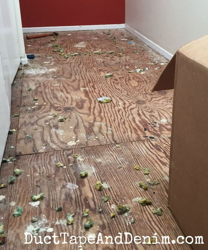 Replacing The Old Carpet With Vinyl Plank Flooring