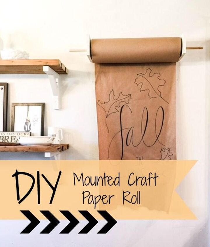 diy mounted craft paper roll, crafts, seasonal holiday decor