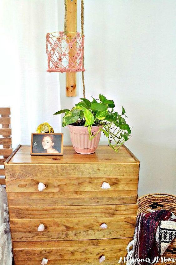 diy easy quartz drawer knobs, crafts, painted furniture