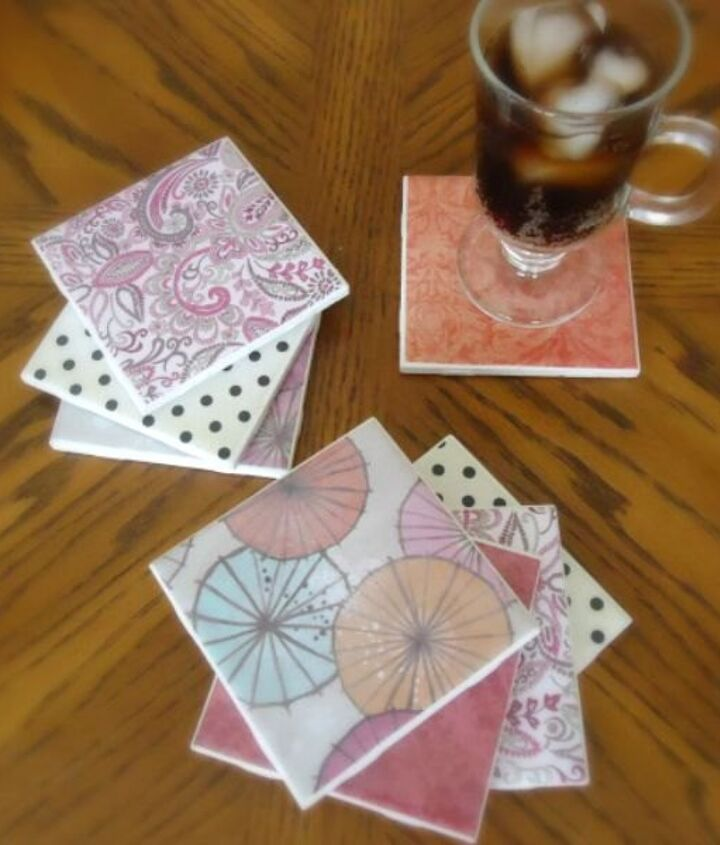 s 15 reasons to drop everything and buy inexpensive tile, tiling, Create a Set of Patterned Coasters