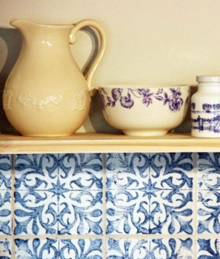 s 15 reasons to drop everything and buy inexpensive tile, tiling, Make Your Own Stamped Backsplash