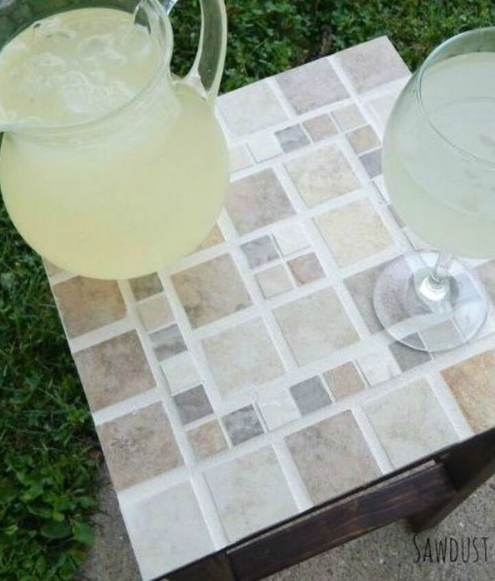 s 15 reasons to drop everything and buy inexpensive tile, tiling, Cover a Small Tabletop