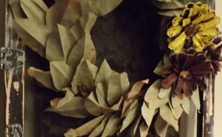 a fall sage wreath made from brown paper grocery bags, crafts, seasonal holiday decor, wreaths
