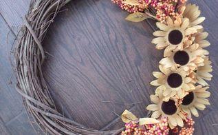 fall floral wreath, crafts, seasonal holiday decor, wreaths