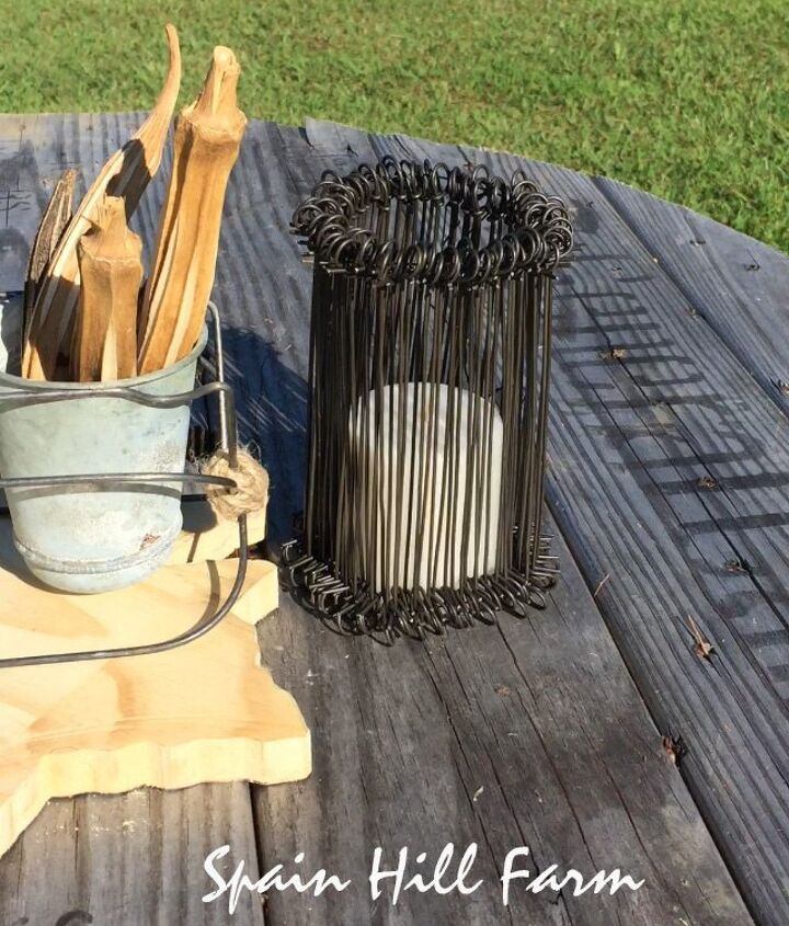 incredibly easy diy wire candle holders, crafts