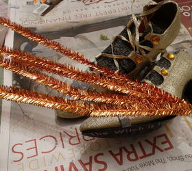 witch shoes halloween decoration halloween decorations repurposing upcycling seasonal holiday decor