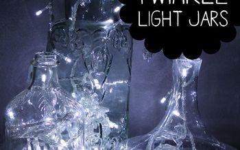 Easy Twinkle Light Jars & Bottles