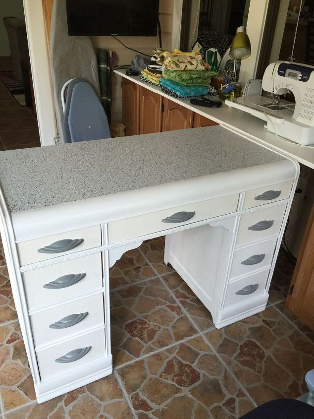 sewing cabinet from an old desk, painted furniture, repurposing upcycling