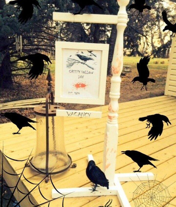 creepy hollow inn, chalk paint, crafts, halloween decorations, seasonal holiday decor