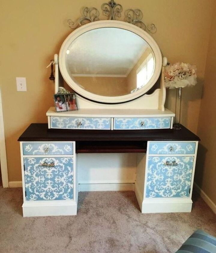 french country dressing table, painted furniture