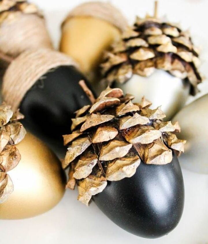 diy fall acorns, crafts, seasonal holiday decor