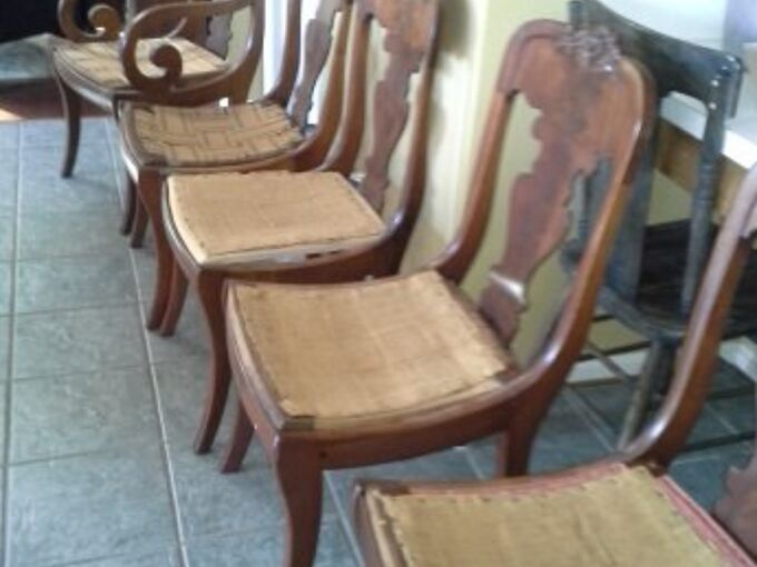 curbside chairs get a makeover, painted furniture, reupholster