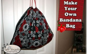 learn to make your own bandana bag, crafts, repurposing upcycling