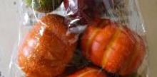 fall painted neutral pumpkins, crafts, seasonal holiday decor