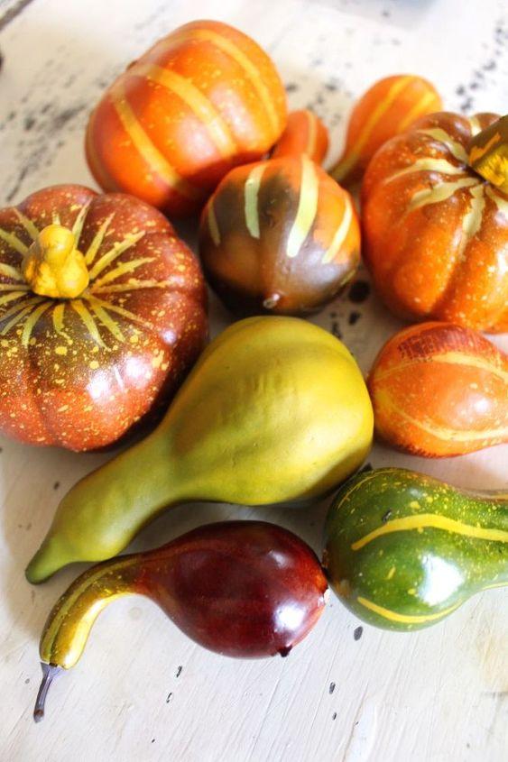 fall painted neutral pumpkins, crafts, seasonal holiday decor