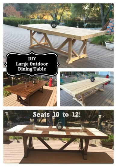 Diy large outdoor dining table seats 10 12 hometalk diy large outdoor dining table seats 10 12 diy outdoor furniture outdoor living solutioingenieria Image collections
