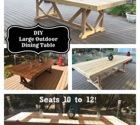 Attrayant Diy Large Outdoor Dining Table Seats 10 12, Diy, Outdoor Furniture, Outdoor  Living