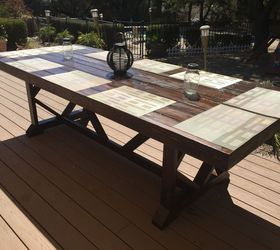 DIY Large Outdoor Dining Table Seats 1012 Hometalk