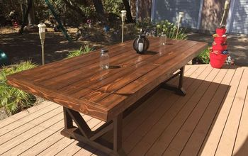 DIY Large Outdoor Dining Table - Seats 10-12