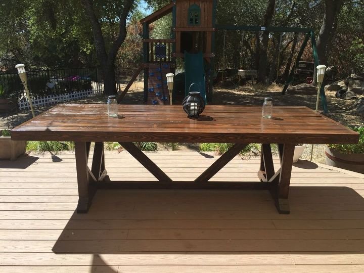 DIY Large Outdoor Dining Table Seats Hometalk - Picnic table seats 12