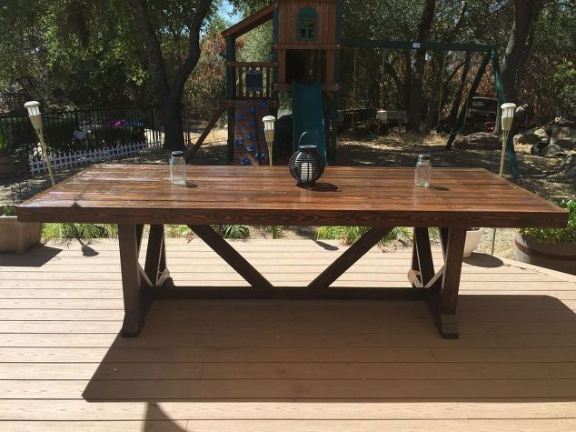 Diy Large Outdoor Dining Table Seats 10 12 Furniture Living