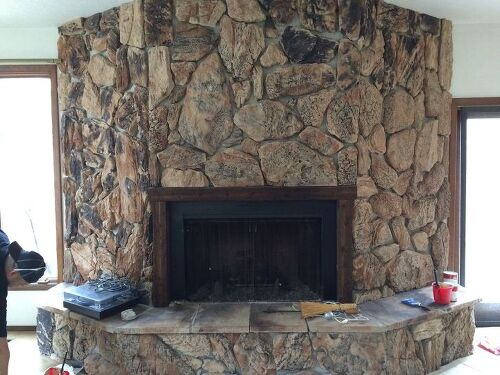 Painting A Lava Rock Wall Mantle Hometalk