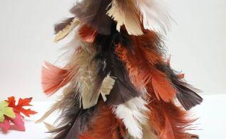 fall feather tree, crafts, seasonal holiday decor