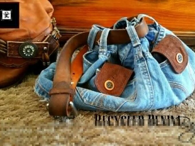 jean bag, crafts, repurposing upcycling