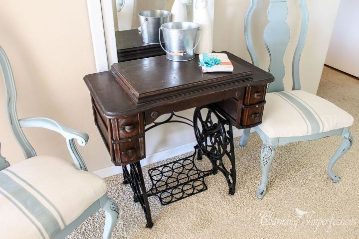 sometimes you just gotta leave em be antique sewing machine, repurposing  upcycling - Sometimes You Just Gotta Leave 'em Be: Antique Sewing Machine