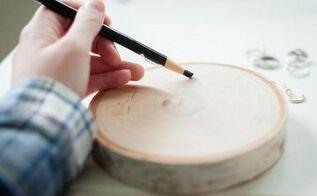 diy wood round ring holder, crafts, organizing