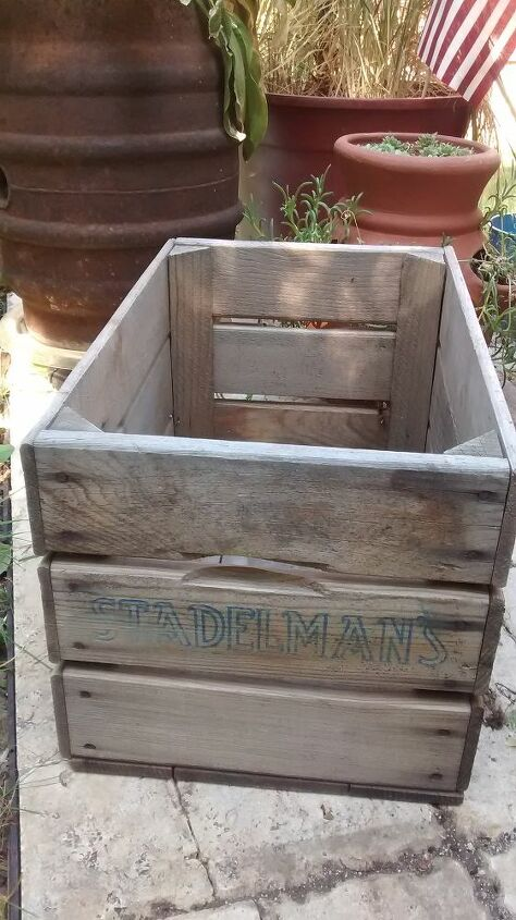 Start off with an old apple crate.