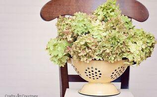 simple diy dried flower arrangement, crafts
