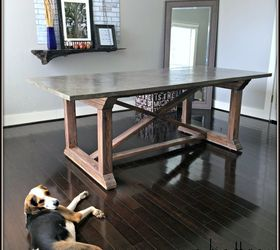 Exceptional Concrete Top Dining Table