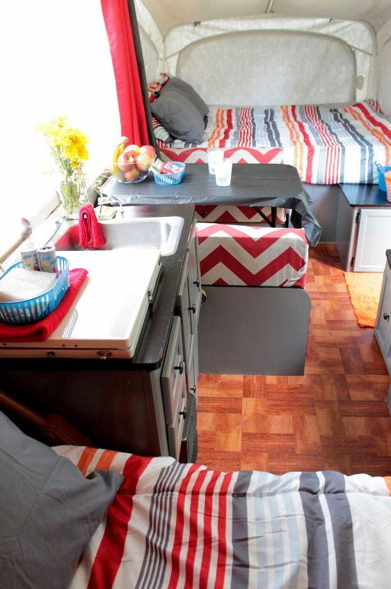 thrifty pop up camper renovation, diy, home improvement