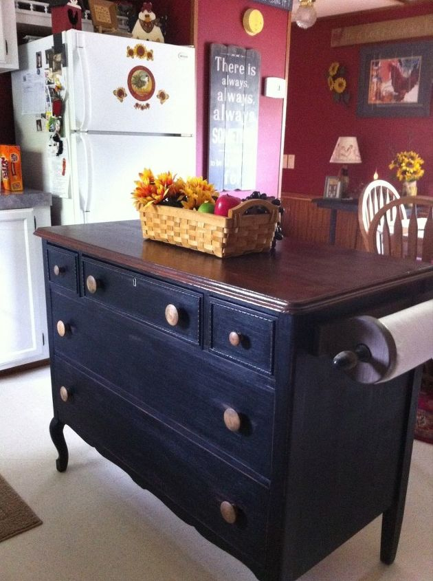 Old Dresser To Kitchen Island Design Painted Furniture Repurposing Upcycling