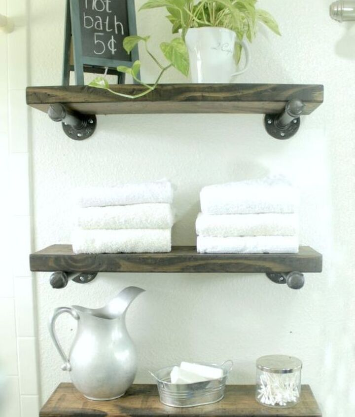 industrial shelves a how to, diy, repurposing upcycling, shelving ideas