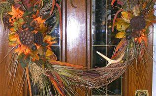 deer antler wreath i made last yr, crafts, seasonal holiday decor, wreaths