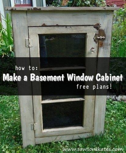 Basement Window Repurposed As Cabinet Door Hometalk