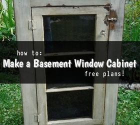 Basement Window Repurposed As Cabinet Door, Closet, Painted Furniture,  Repurposing Upcycling, Woodworking