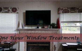 DIY One Hour Window Treatments!