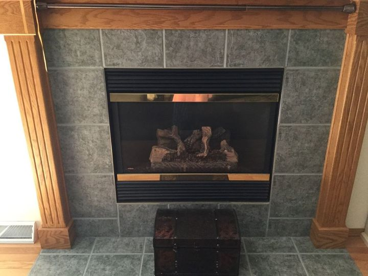 Q Can I Paint The Ceramic Tiles Around My Fireplace So Ugly Fireplaces Mantels
