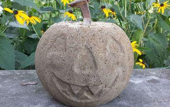 Concrete Pumpkin Project ~