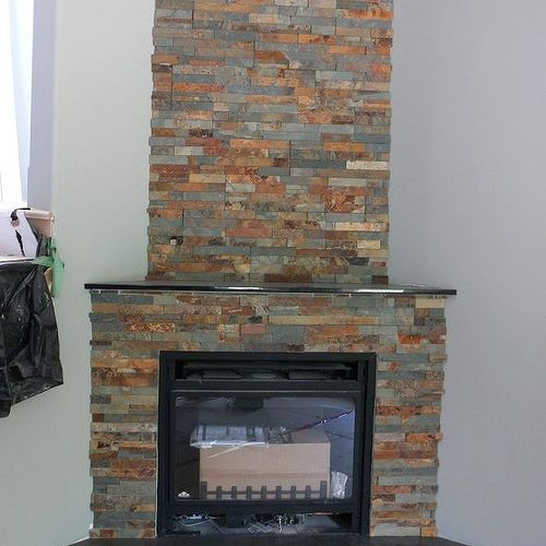 Can I paint the ceramic tiles around my fireplace, so ugly ...