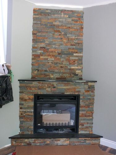 Can I Paint The Ceramic Tiles Around My Fireplace So Ugly